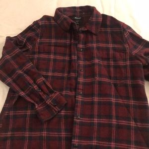 Madewell flannel plaid top
